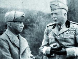 Il Re Vittorio Emanuele terzo accanto al maresciallo d'Italia