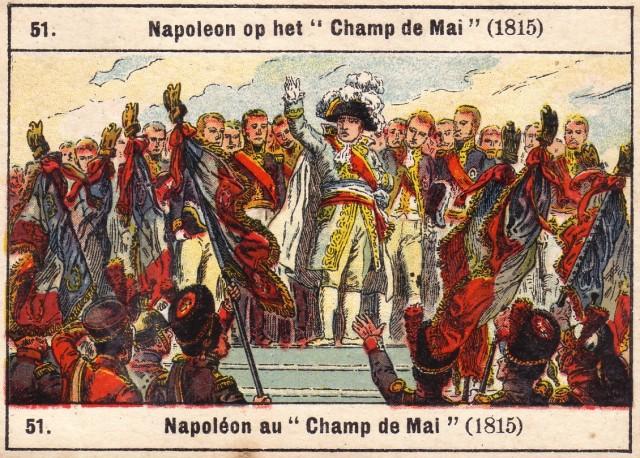 51_ Napoleon on the ___Champ du Mai____ 1815
